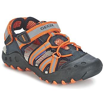 Sapatos Rapaz Sandálias desportivas Geox SAND.KYLE C Marinho / Laranja