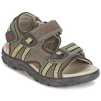 Sapatos Rapaz Sandálias desportivas Geox S.STRADA A Castanho