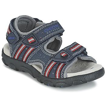Sapatos Rapariga Sandálias desportivas Geox S.STRADA A Marinho / Vermelho