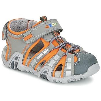 Sapatos Rapaz Sandálias desportivas Geox SANDAL KRAZE B Cinza / Laranja