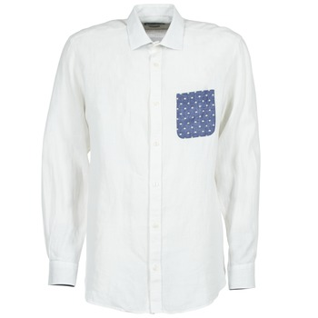 Textil Homem Camisas mangas comprida Serge Blanco CHACA Branco