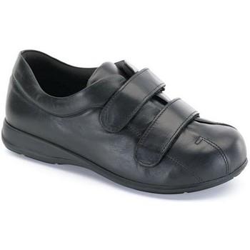 Sapatos Mulher Botas baixas Calzamedi VELCRO UNISEX PIE DIABETICO NEGRO
