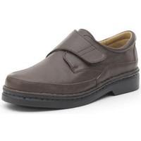 Sapatos Homem Sapatos Calzamedi ZAPATO CON VELCRO COMODO COSIDO A MANO H MARRON