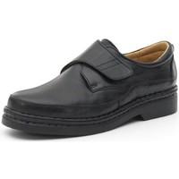 Sapatos Homem Sapatos Calzamedi ZAPATO CON VELCRO COMODO COSIDO A MANO H NEGRO