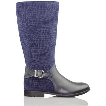 Sapatos Rapariga Botas baixas Biomecanics GARVALIN CHICA CON SERRAJE GRABADO AZUL