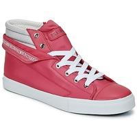 Sapatos Mulher Sapatilhas de cano-alto Bikkembergs PLUS 647 Rosa / Cinzento