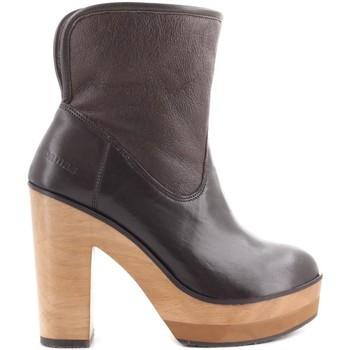 Sapatos Mulher Botins Cubanas Botas Wave300 Castanho