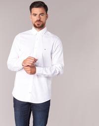 Textil Homem Camisas mangas comprida Tommy Hilfiger STRETCH POPLIN Branco