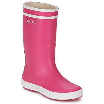Sapatos Rapariga Botas de borracha Aigle LOLLY-POP Rosa / Branco