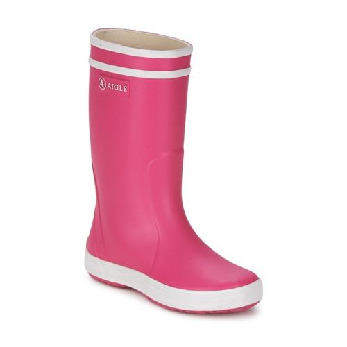 Sapatos Rapariga Botas de borracha Aigle LOLLY-POP Rosa / Branco