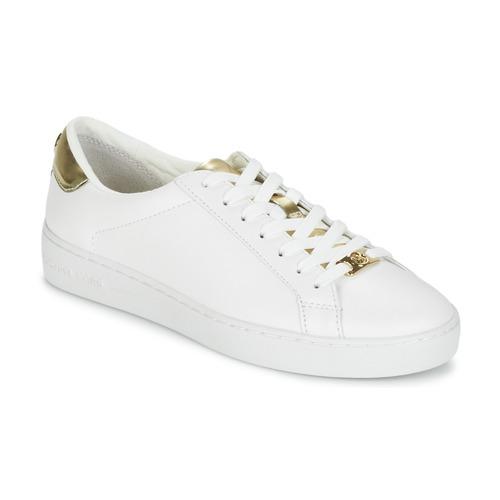 Sapatos Mulher Sapatilhas MICHAEL Michael Kors IRVING Branco / Dourado