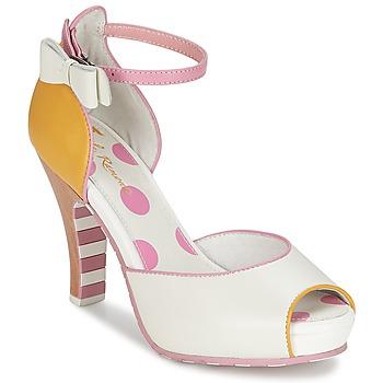 Sapatos Mulher Sandálias Lola Ramona ANGIE Rosa / Branco