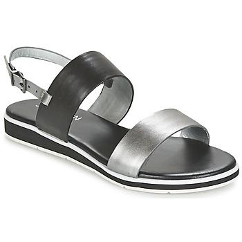 Sapatos Mulher Sandálias JB Martin LOU Preto / Prateado