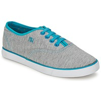 Sapatos Mulher Sapatilhas Dorotennis C1 TENNIS RICHELIEU LACETS SEMELL JERSEY Cinza / Turquesa