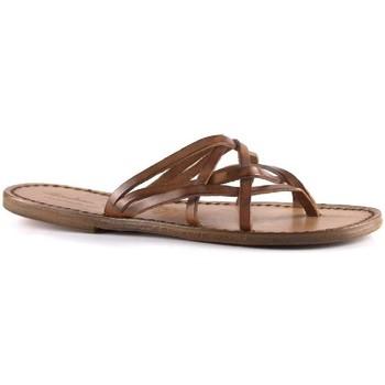 Sapatos Mulher Chinelos Gianluca - L'artigiano Del Cuoio 543 D CUOIO CUOIO Cuoio
