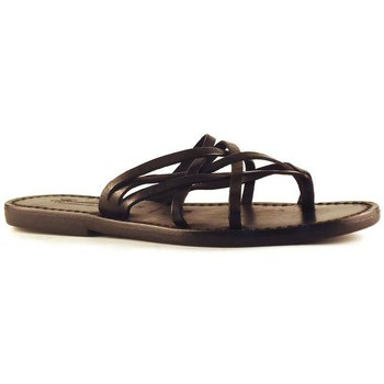 Sapatos Mulher Sandálias Gianluca - L'artigiano Del Cuoio 543 D NERO CUOIO nero