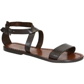 Sapatos Mulher Sandálias Gianluca - L'artigiano Del Cuoio 509 D MORO CUOIO Testa di Moro