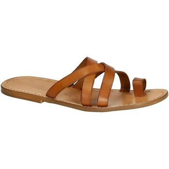 Sapatos Homem Sandálias Gianluca - L'artigiano Del Cuoio 549 U CUOIO CUOIO Cuoio