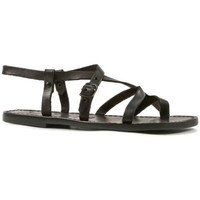 Sapatos Mulher Sandálias Gianluca - L'artigiano Del Cuoio 530 D NERO CUOIO nero