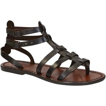 Sapatos Mulher Sandálias Gianluca - L'artigiano Del Cuoio 506 D MORO CUOIO Testa di Moro