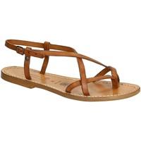Sapatos Mulher Sandálias Gianluca - L'artigiano Del Cuoio 537 D CUOIO CUOIO Cuoio