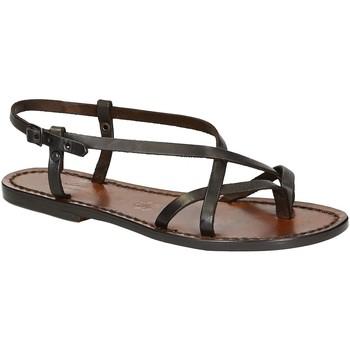 Sapatos Mulher Sandálias Gianluca - L'artigiano Del Cuoio 537 D MORO CUOIO Testa di Moro