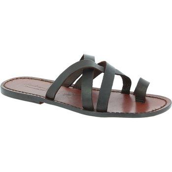 Sapatos Homem Sandálias Gianluca - L'artigiano Del Cuoio 549 U MORO CUOIO Testa di Moro