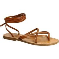 Sapatos Mulher Sandálias Gianluca - L'artigiano Del Cuoio 514 D CUOIO CUOIO Cuoio