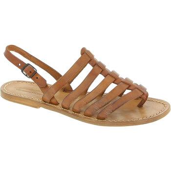 Sapatos Mulher Sandálias Gianluca - L'artigiano Del Cuoio 576 D CUOIO CUOIO Cuoio