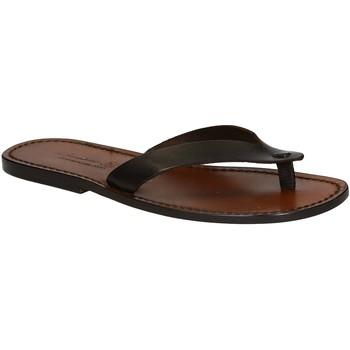 Sapatos Homem Chinelos Gianluca - L'artigiano Del Cuoio 541 U MORO CUOIO Testa di Moro