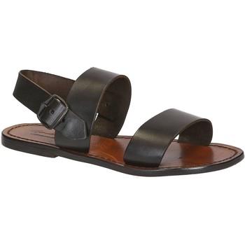 Sapatos Mulher Sandálias Gianluca - L'artigiano Del Cuoio 500 D MORO CUOIO Testa di Moro
