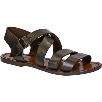 Sapatos Mulher Sandálias Gianluca - L'artigiano Del Cuoio 508 D MORO CUOIO Testa di Moro