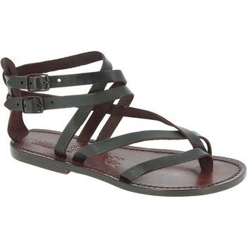 Sapatos Mulher Sandálias Gianluca - L'artigiano Del Cuoio 574 D MORO CUOIO Testa di Moro