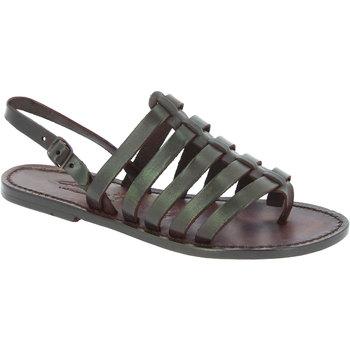 Sapatos Mulher Sandálias Gianluca - L'artigiano Del Cuoio 576 D MORO CUOIO Testa di Moro