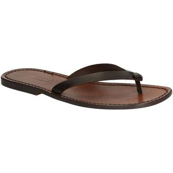 Sapatos Homem Chinelos Gianluca - L'artigiano Del Cuoio 540 U MORO CUOIO Testa di Moro