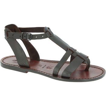 Sapatos Mulher Sandálias Gianluca - L'artigiano Del Cuoio 572 D MORO CUOIO Testa di Moro