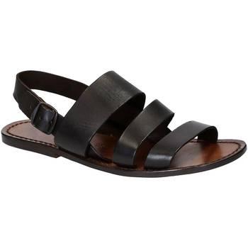 Sapatos Homem Sandálias Gianluca - L'artigiano Del Cuoio 507 U MORO CUOIO Testa di Moro