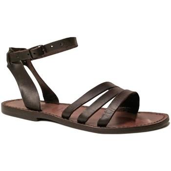 Sapatos Mulher Sandálias Gianluca - L'artigiano Del Cuoio 583 D MORO CUOIO Testa di Moro