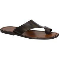 Sapatos Homem Sandálias Gianluca - L'artigiano Del Cuoio 521 U MORO CUOIO Testa di Moro