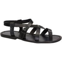 Sapatos Homem Sandálias Gianluca - L'artigiano Del Cuoio 530 U NERO CUOIO nero