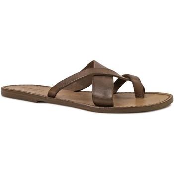 Sapatos Mulher Sandálias Gianluca - L'artigiano Del Cuoio 545 D FANGO CUOIO Fango
