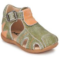 Sapatos Rapaz Sandálias Mod'8 ALUCINE Verde / Laranja