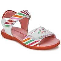 Sapatos Rapariga Sandálias Agatha Ruiz de la Prada CAZOLETA Branco / Multicolor