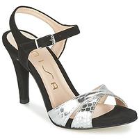 Sapatos Mulher Sandálias Unisa WARIAN Preto / Prateado