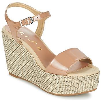 Sapatos Mulher Sandálias Unisa LITUAN Bege / Rosa
