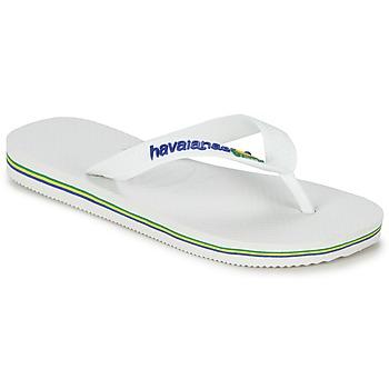 Sapatos Criança Chinelos Havaianas BRASIL LOGO Branco