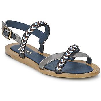 Sapatos Mulher Sandálias Schmoove MEMORY LINK Prateado / Marinho