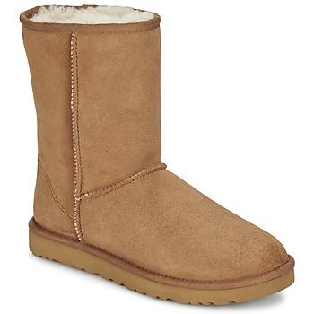 Sapatos Mulher Botas baixas UGG CLASSIC SHORT Castanha