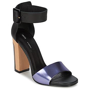 Sapatos Mulher Sandálias Miista LILY Preto / Lavanda
