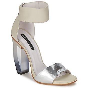 Sapatos Mulher Sandálias Miista JAYDA Branco / Prateado